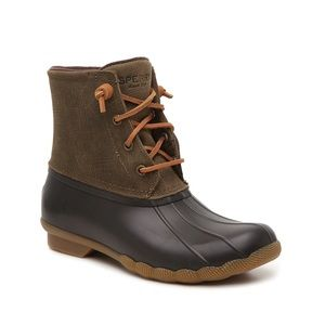 SPERRY SALTWATER LEATHER DUCK BOOT Sz 7